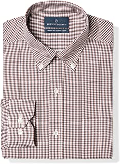 Amazon Brand - BUTTONED DOWN Men's Tailored Fit Gingham...