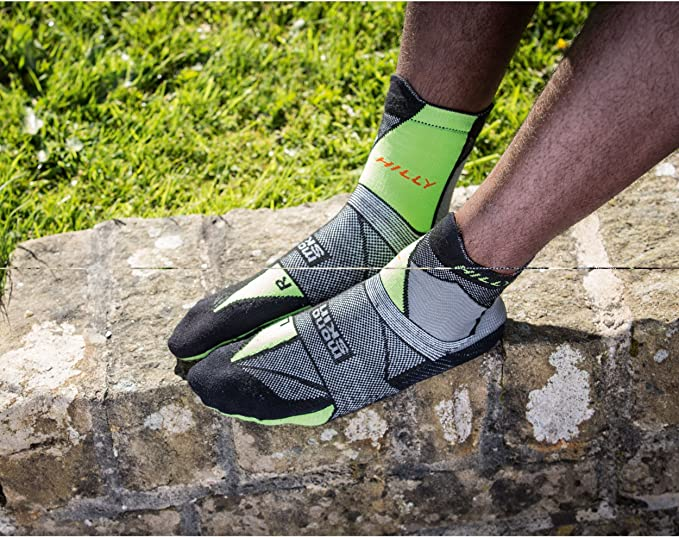 Hilly Off Road Running /& Sports Anklet Socks Durable Merino Wool