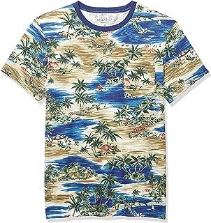 Men's Short-Sleeve Tropical Print Crewneck T-Shirt