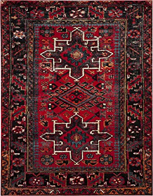 Safavieh Vintage Hamadan Collection VTH211A Oriental Traditional Persian Non-Shedding Stain Resistant Living Room Bedroom Area Rug, 8' x 10', Red / Multi