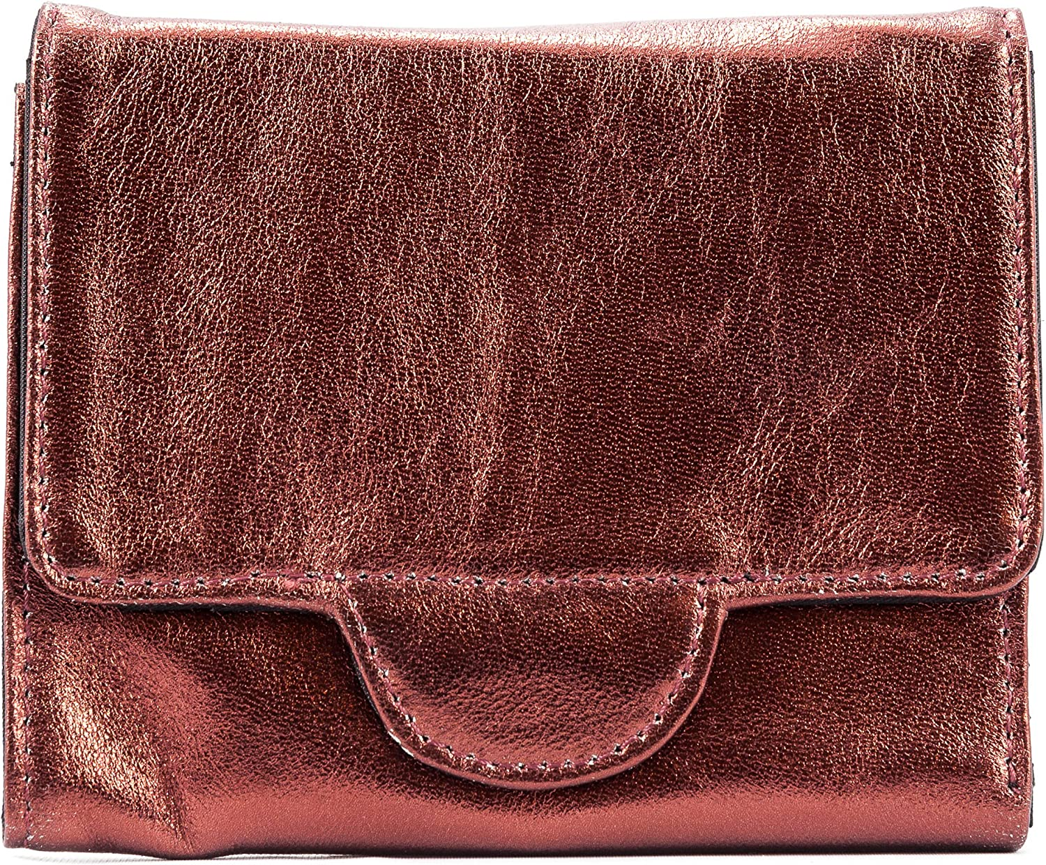 Big Skinny Women's Trixie Tri-fold Wallet Metallic Red