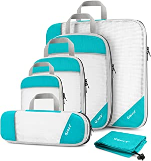 Gonex Compression Packing Cubes Mesh Organizers L+M+S+XS+Slim+Laundry Bag Blue