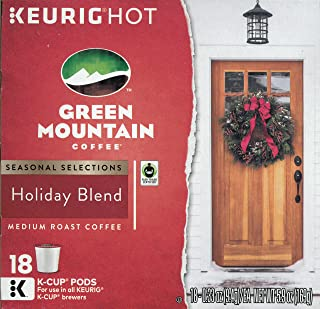 Green Mountain Coffee Holiday Blend K-Cup Pack, 18 Count