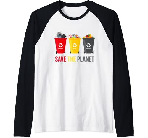 Happy Earth Day 2020   Save The Planet Raglan Baseball Tee