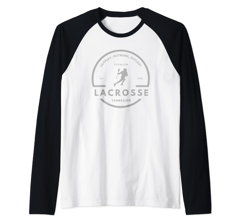 Tennessee Lacrosse Logo Baseball Shirts