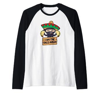 Amazon.com: Taco Ninja Fiesta Shirts, Funny Tacos Raglan ...