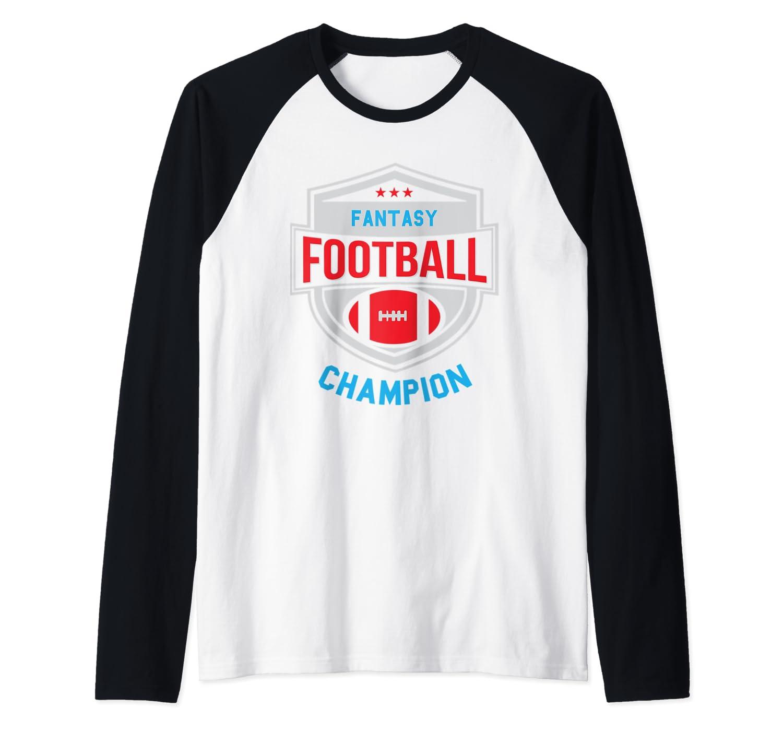 Fantasy Football Champion League Champ Winner Quote Baseball Shirts