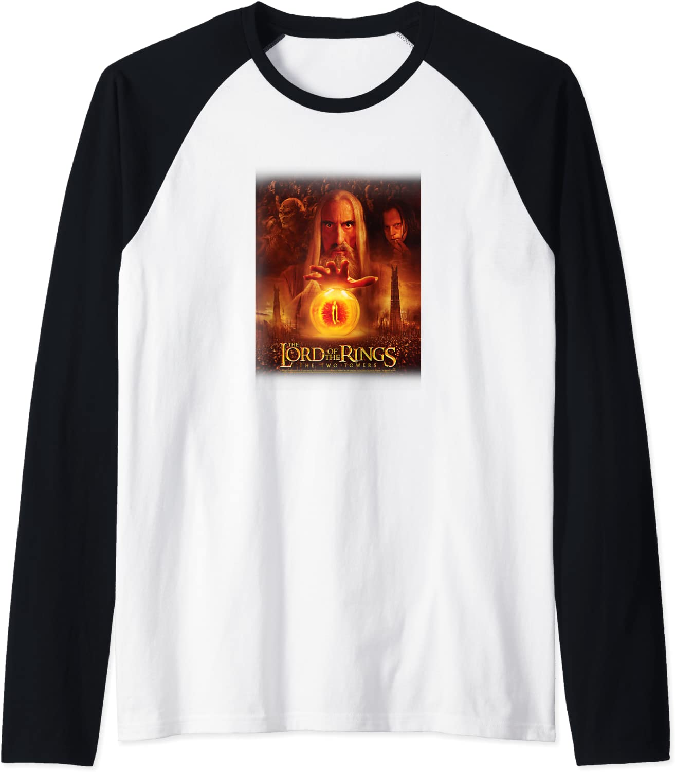 Lord Of The Rings Two In a popularity In stock Mordor Baseball Towers Collage Raglan