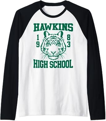 Netflix Stranger Things Hawkins High School 1983 Manche Raglan