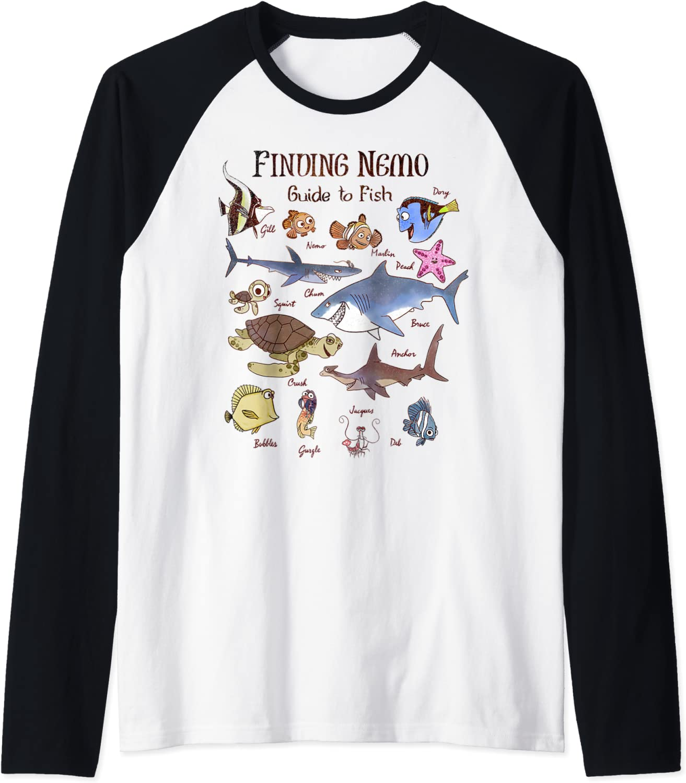 Disney Pixar Max 56% OFF Finding Nemo Fish Baseball Max 69% OFF Raglan Guide Tee