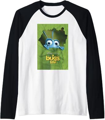 Disney Pixar A Bug's Life Flik Leaf Poster Manche Raglan