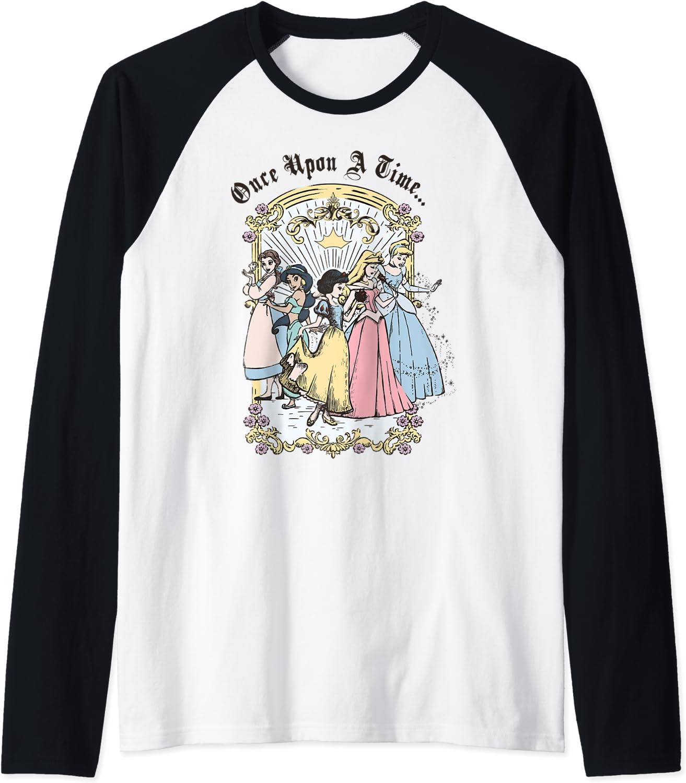 Disney Princess famous Once Upon A Raglan Time Vintage Baseball Cartoon Industry No. 1