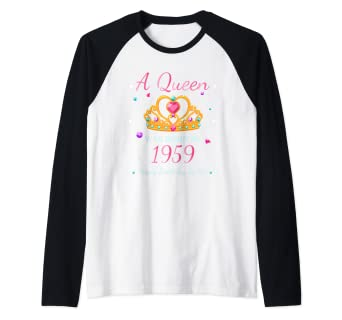 3c7f068cd Image Unavailable. Image not available for. Color: A Queen Was Born In 1959  - 60th Birthday 60 Years Old ...