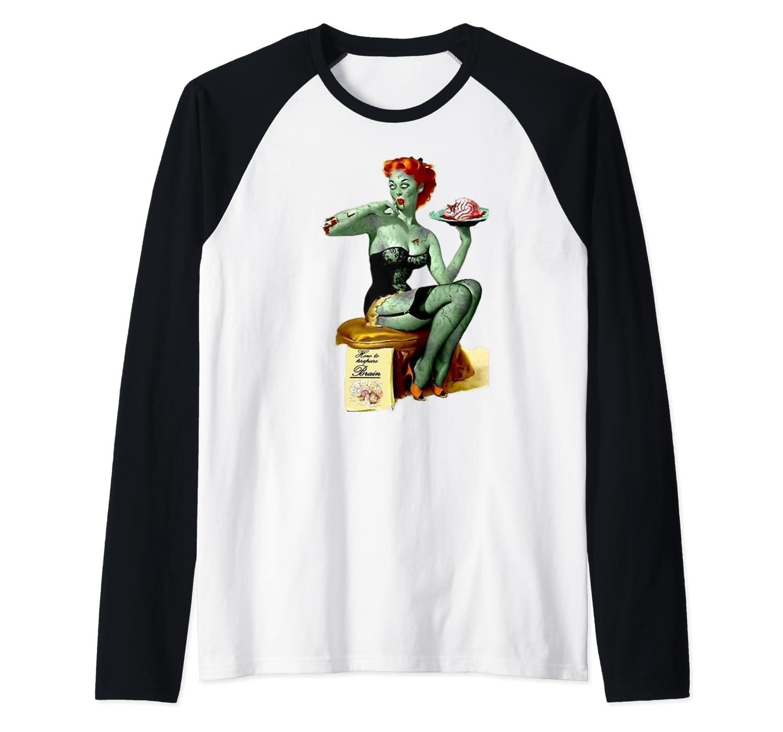 Zombie Pin Up Girl Baseball Shirts