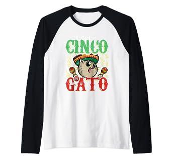 ca44b985ea Image Unavailable. Image not available for. Color: Happy Cinco de Gato Cat  Lover Cinco de Mayo Gift Raglan Baseball Tee