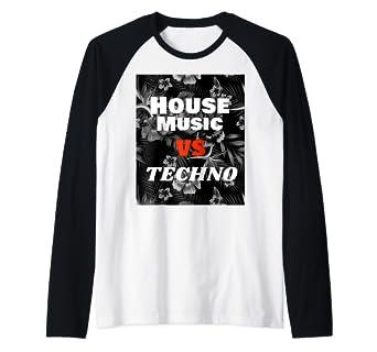 Amazon com: House Music Vs Techno EDM Rave Raglan Baseball