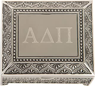 Desert Cactus Alpha Delta Pi Engraved Pin Box Sorority Greek Decorative Trinket Case Great for Rings, Badges, Jewelry Etc. ADPi (Vintage Footed Pin Box)