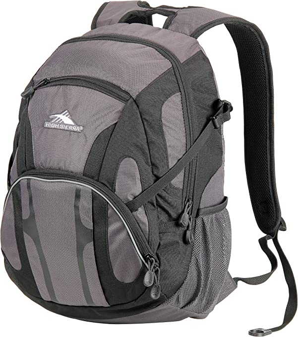 High Sierra 55017 Hiking Backpack, Charcoal/Black, 31 L Capacity