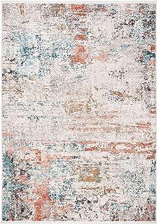 Safavieh Tapis Rectangulaire Contemporain, Tressé, Collection Shivan, Gris/Rose, 160 x 229 cm, Polypropylène