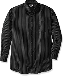 Cutter & Buck Men's Big and Tall Long Sleeve Epic Easy Care Pin-Stripe