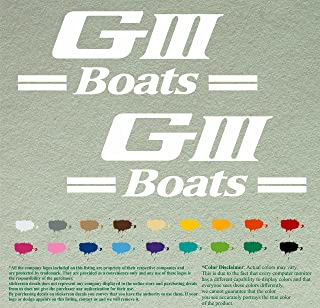 Pair of G3 Boats G III by Yamaha Outboards Decals Vinyl Stickers Boat Outboard Motor Lot of 2 (12