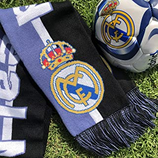 Real Madrid Ball Scarf Official Licensed Soccer Fan Gift Bundle