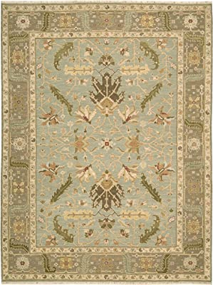 """Nourison Suf I Noor (SF36) Light Blue Rectangle Area Rug, 7-Feet 10-Inches by 9-Feet 10-Inches (7'10"""" x 9'10"""")"""