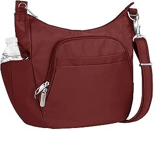 Travelon Anti-theft Classic Crossbody Bucket Bag, Wine