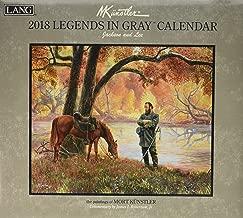 2018 legends in gray calendar