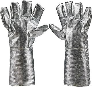 Holulo High Temperature Kevlar Aluminized Glove Heat Resistant Glove Welding Gloves Safety Work Glove (L-38cm)