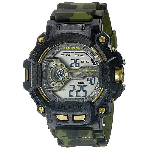 845e0daa8022 Armitron Sport Men s 40 8353 Digital Chronograph Grey Resin Strap Watch