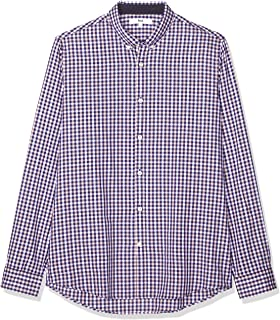 Marca Amazon - find. Slim Oxford - Camisa Hombre