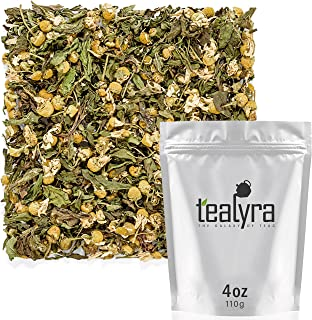 Tealyra - Chamomile and Spearmint - Herbal Loose Leaf Tea - Calming and Relaxing Tea - Caffeine-Free - 100% Natural Ingred...