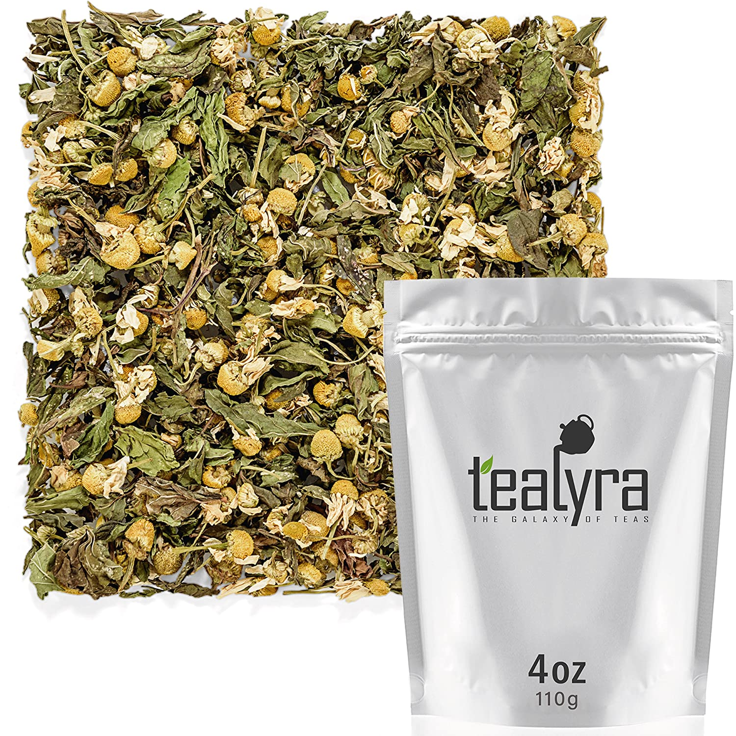 Tealyra - Chamomile and Spearmint Loose Tea Leaf Herbal Super popular specialty store Calm Free shipping New