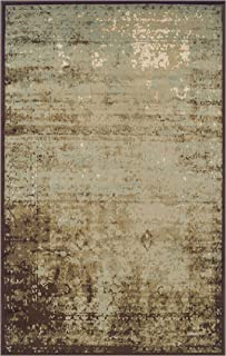 Superior Modern Afton Acid Wash Collection Area Rug, 10mm Pile Height with Jute Backing, Vintage Distressed Design, Anti-Static, Water-Repellent Rugs - Slate, 5' x 8' Rug