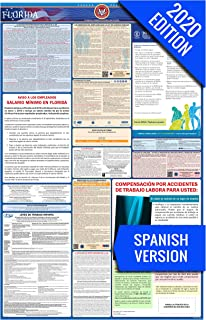 2020 Florida (Spanish) Labor Law Poster – State, Federal, OSHA Compliant – Single Laminated Poster