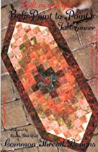 Bali Point to Point Table Runner Pattern, Strip Quilt as You Go, Finished Size 18.5