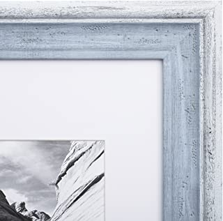 8x10 Picture Frame Distressed Blue - Matted to 5x7, Frames by EcoHome