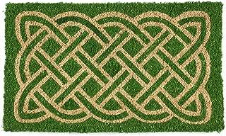 Entryways Celtic Handmade, Hand-Stenciled, All-Natural Coconut Fiber Coir Doormat 18