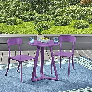 Christopher Knight Home 304948 Larissa Outdoor Bistro Set, Matte Purple