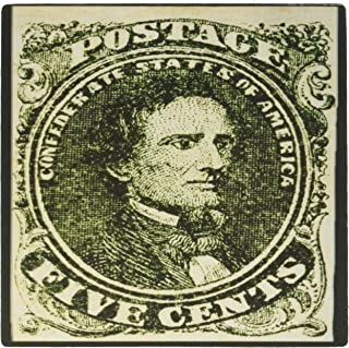 3dRose 8 x 8 x 0 25 Inches Photo First Confederate Postage Stamp with Jefferson Davis 1861 Mouse Pad (mp_162952_1)
