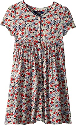 Floral Button-Front Dress (Little Kids)