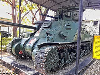 Home Comforts British WW2 M-3 Grant Medium Tank. Brother of M-3 Lee Tank. (The Picture is Been Edited) -More infor Vivid Imagery Laminated Poster Print 24 x 36