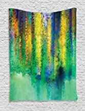 Ambesonne Watercolor Flower Tapestry, Abstract Style Spring Floral Watercolor Style Painting Image Nature Art, Wall Hanging for Bedroom Living Room Dorm Decor, 40