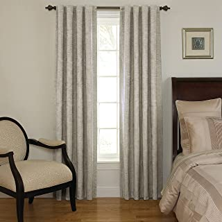 Beautyrest 11239042X095GRE Chenille 42-Inch by 95-Inch Rod Pocket Single Window Curtain Panel, Grey