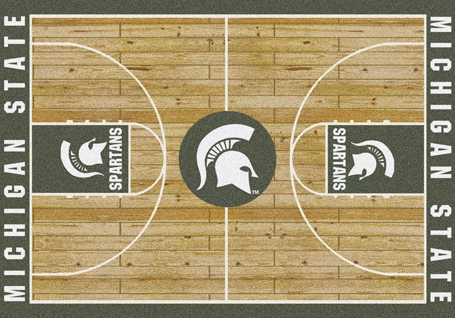 4x6 Milliken Michigan State Spartans Mail order cheap NCAA Court Popular brand in the world - Rug Appro Area
