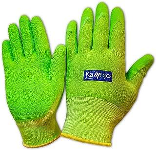 Bamboo Gardening Gloves for Women & Men - Ultra-Premium & Breathable to Keep Hands Dry - Textured Grip to Reduce Slipping Garden & Work Gloves by Kamojo (Medium)