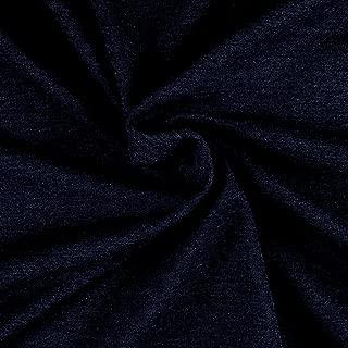 Telio Hemp Recycled Polyester Fleece Midnight Blue, Fabric by the Yard
