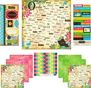 Scrapbook Customs Themed Paper and Stickers Scrapbook Kit, Oahu Paradise