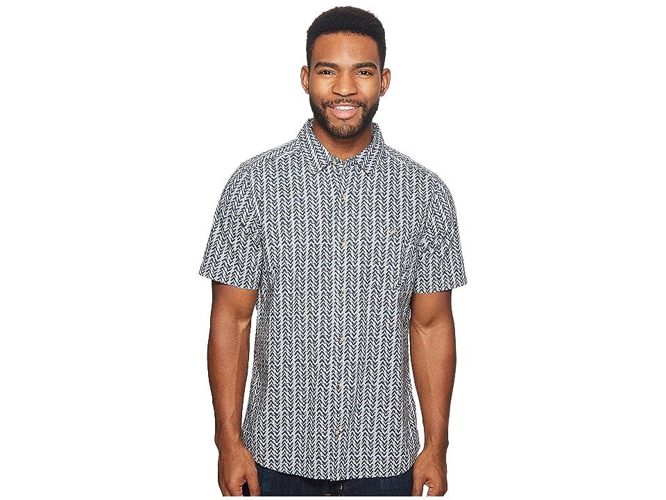 Toad&Co Fletch Print Short Sleeve Shirt (Light Ash Birdseye Print) Men